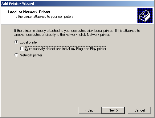 5.3 Windows 2000 5 5.3 Windows 2000 5.3.1 For network connection (LPR/Port9100) To use LPR/Port9100 printing, specify the port while installing the printer driver.