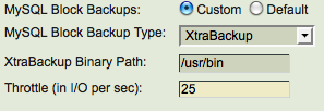 Xtrabackup parameters Other xtrabackup parameters are
