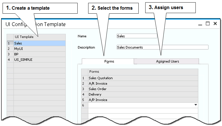 2 The Personality of SAP Business One Figure 2-22 shows the template screen.