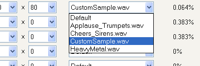Custom Audio Events You have the ability to set custom audio for specific pay lines.
