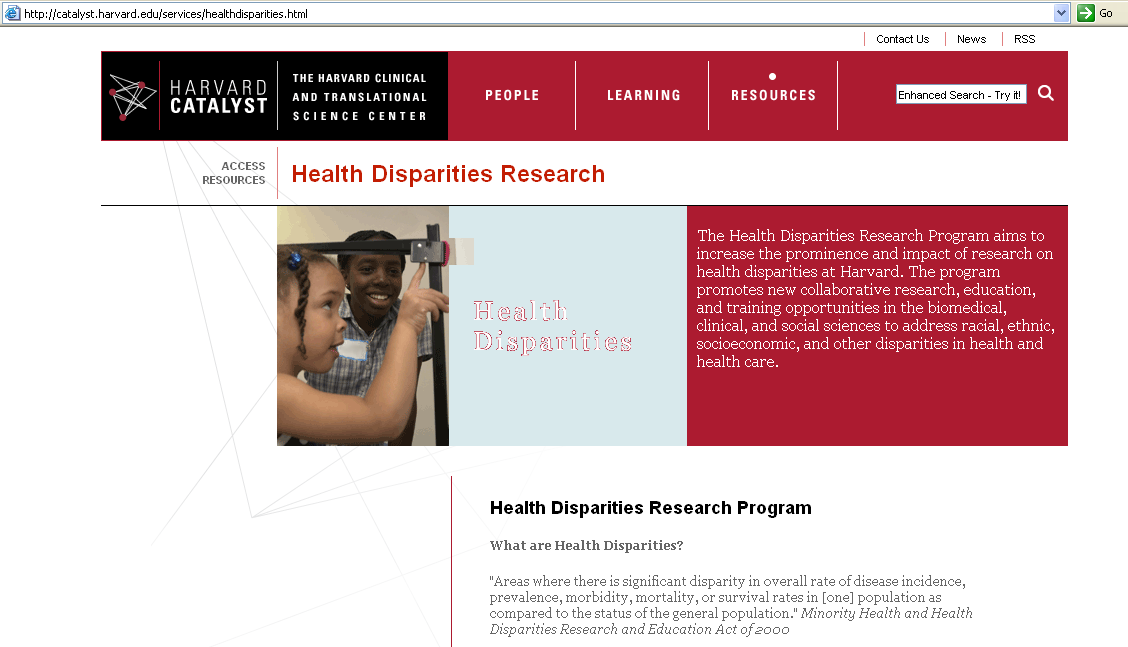 Harvard Catalyst Health Disparities Research