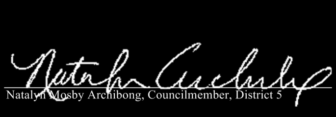 CITY COUNCIL ATLANTA, GEORGIA SPONSOR SIGNATURES