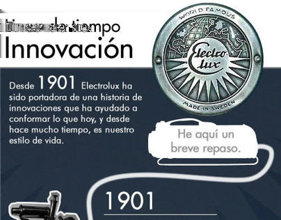 Go to website Electrolux Time-Line Design and Copywriting of a Infographic telling the story
