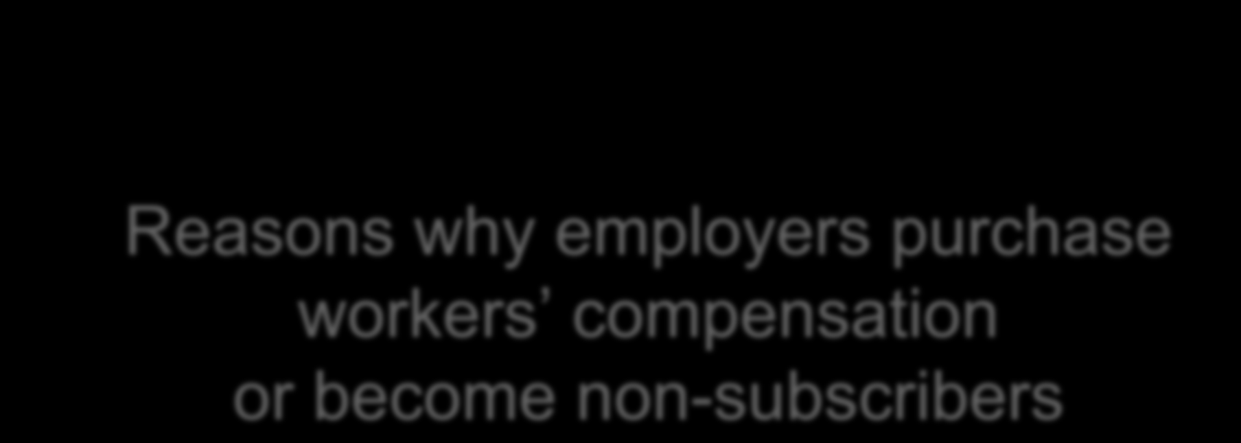 Reasons why employers purchase workers