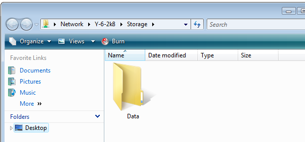 Folders can also be added without targets to help organize the information in the storage. Click OK to create the folder.