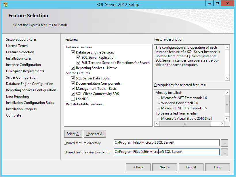 Select New SQL Server sand-alone installation or add features to an existing installation.
