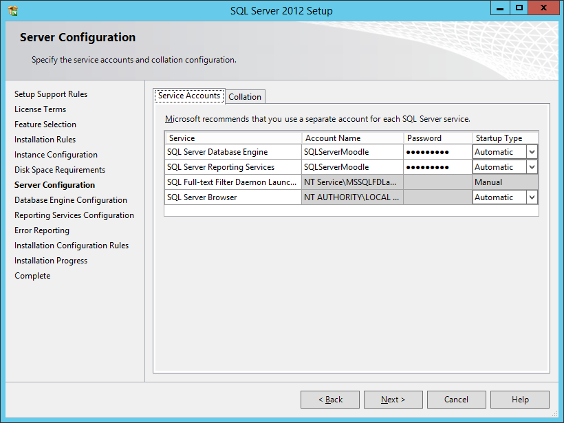 Select Default Instance Add The SQL Service