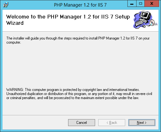 Install PHP Manager for IIS Download PHP Manager for IIS from Codeplex