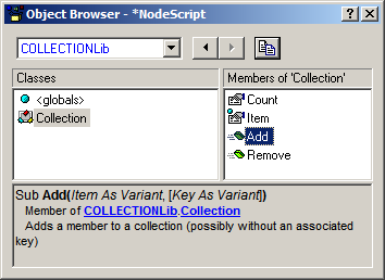 StatSoft White Paper Page 21 of 31 In order to use Collection objects, SVB scripts must include a reference to the StatSoft Collection Library (add it using the Tools References menu while editing