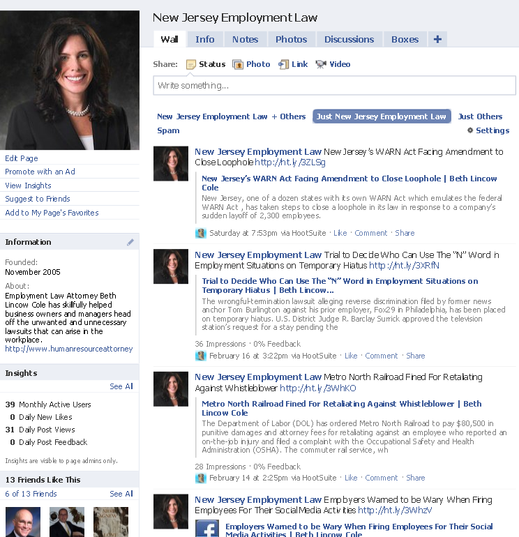 FACEBOOK Use Fan Pages to: - Promote Your Law Firm -