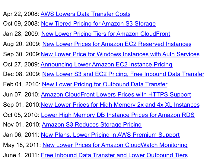 tiers March 07, 2012: EC2 and RDS price drops in all regions A shift to cloud computing creates an