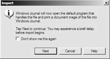 Select the file and tap on the Import button in the dialog box. The import message is displayed. 2.
