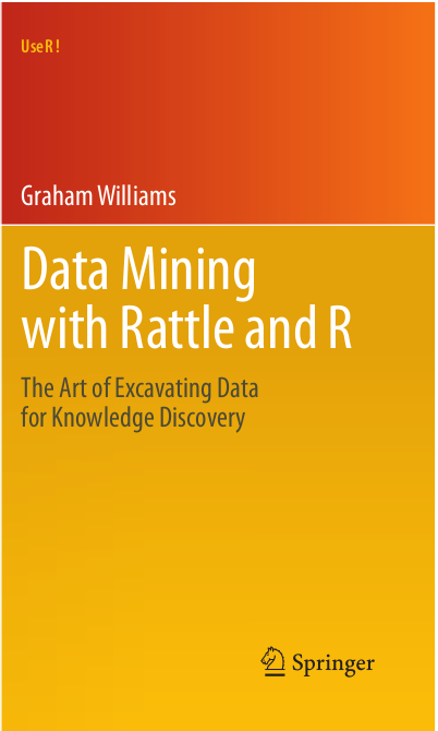 24 Further Reading and Acknowledgements The Rattle Book, published by Springer, provides a comprehensive introduction to data mining and analytics using Rattle and R. It is available from Amazon.