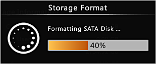 Format Hard Disks You may execute disk formatting toward a newly-installed disk.