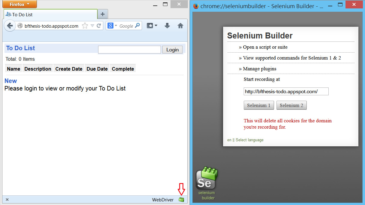 significantly. For these scenarios, writing a test script using Selenium Builder offers significant advantages.
