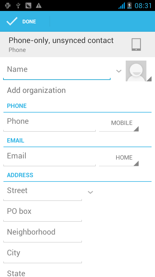 Menu> To display of the contact You can choose all contact, one a SIM card of contact, the mobile phone contacts c.