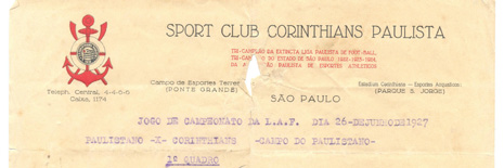 It was unsophisticated and had only the superimposed letters C and P hurriedly embroidered onto the players shirts for them to fight for a spot in the São Paulo State Football League.