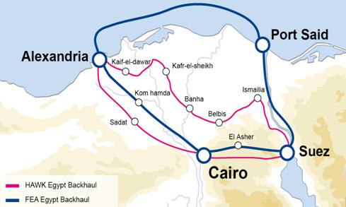 Metropolitan network Egypt New Ring Existing Ring Four routes across Egypt which makes it one of most resilient network globally.