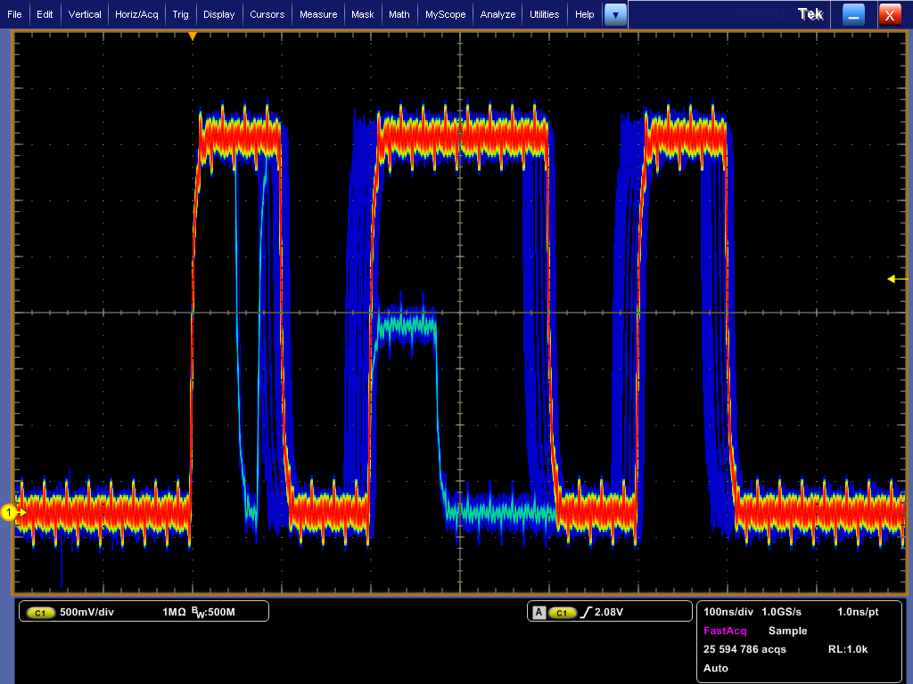Data Sheet Simplified Analysis for Complex Digital Designs With the DPO7000C Digital Phosphor Oscilloscope Series, you can analyze analog and serial bus signals with a single instrument to quickly