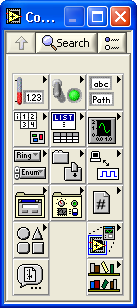 Controls Palette Controls Palette Contains the most commonly used controls