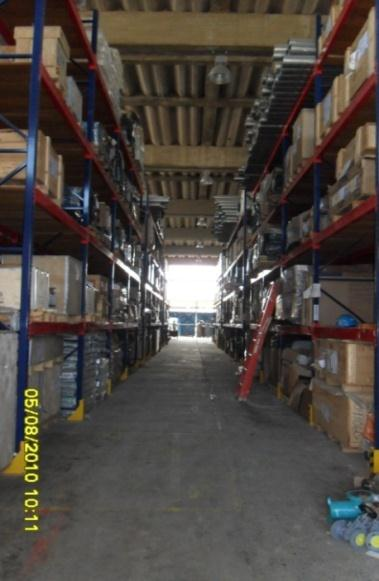 facilities. This warehouse counts with spaces for materials requiring special storage conditions. Figure 3. Central Warehouse of Mamonal plant.