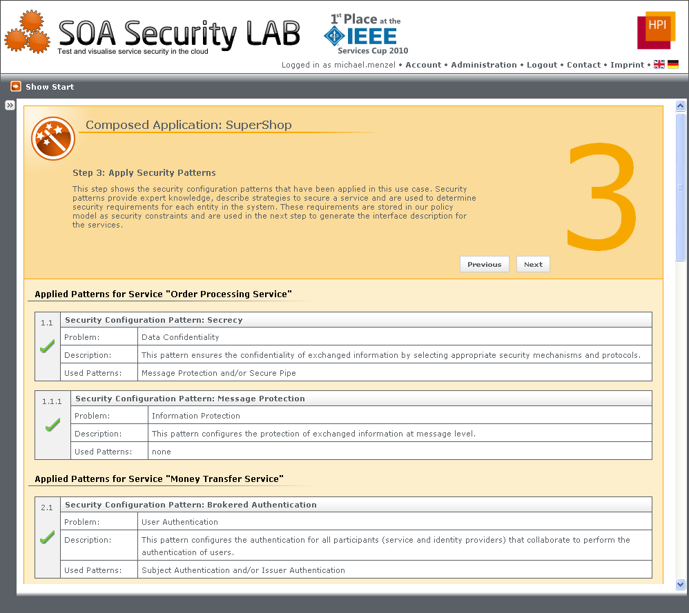 CHAPTER 8. PROOF OF CONCEPT: THE SOA SECURITY LAB 3.