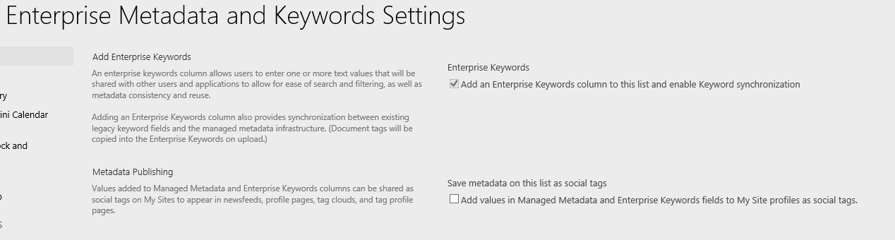 Enterprise Keywords Example of Folksonomy! Users tag items/documents with words/phrases of their choosing.