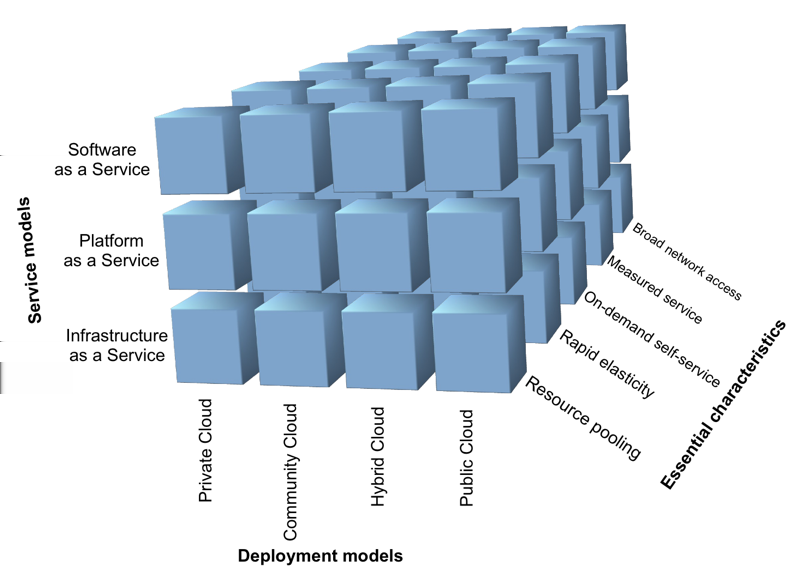 The Cloud 3.5.1 The Cloud Cube In order to cover as many possibilities and scenarios possible, different Cloud cube perspectives are used by consultancy companies, including Capgemini.