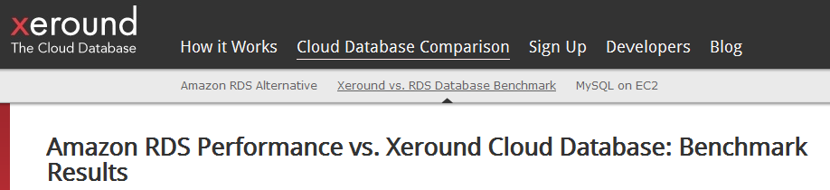 Some options in DB Cloud Benchmarking already exist.