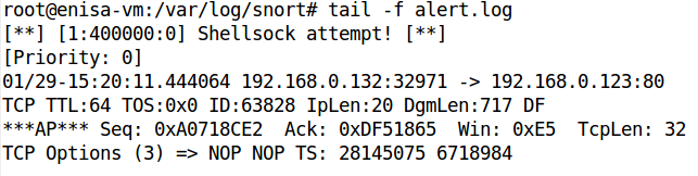 In addition, if Apache error log is checked attack traces are present there as well. $ sudo tail /var/log/apache2/error.log Figure 20: Apache error log.