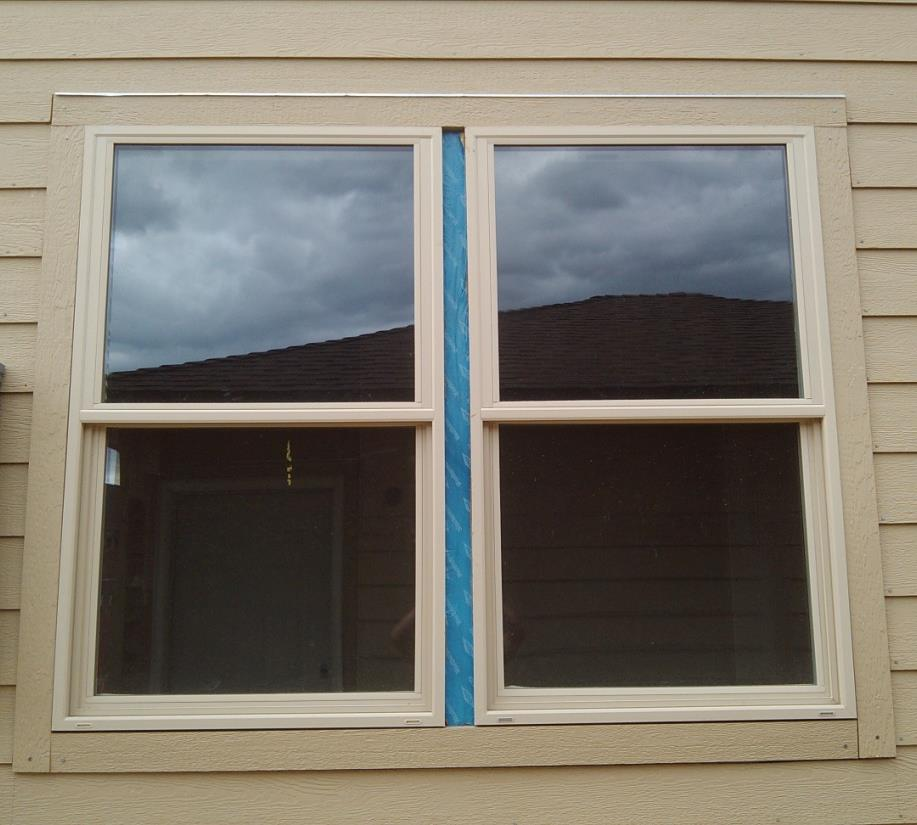 Double Windows Follow the same procedure: install bottom boards first, then sides, then top.