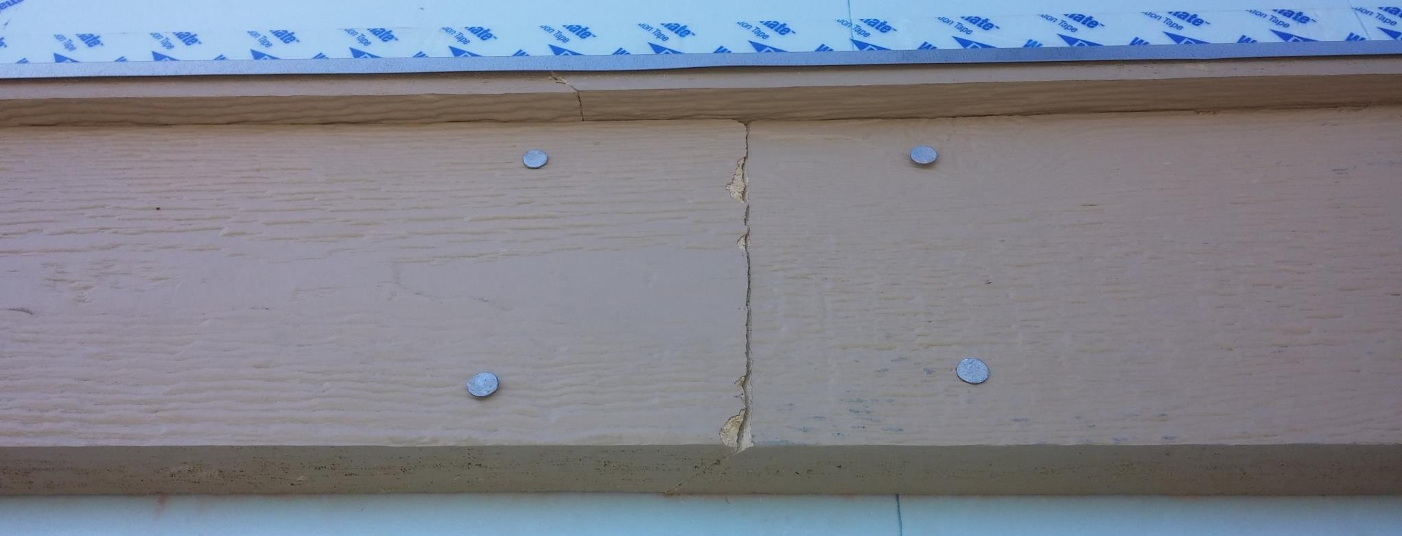 Belly Board Where a wall is longer than 16', splice board with an overlapped miter cut centered on a stud.
