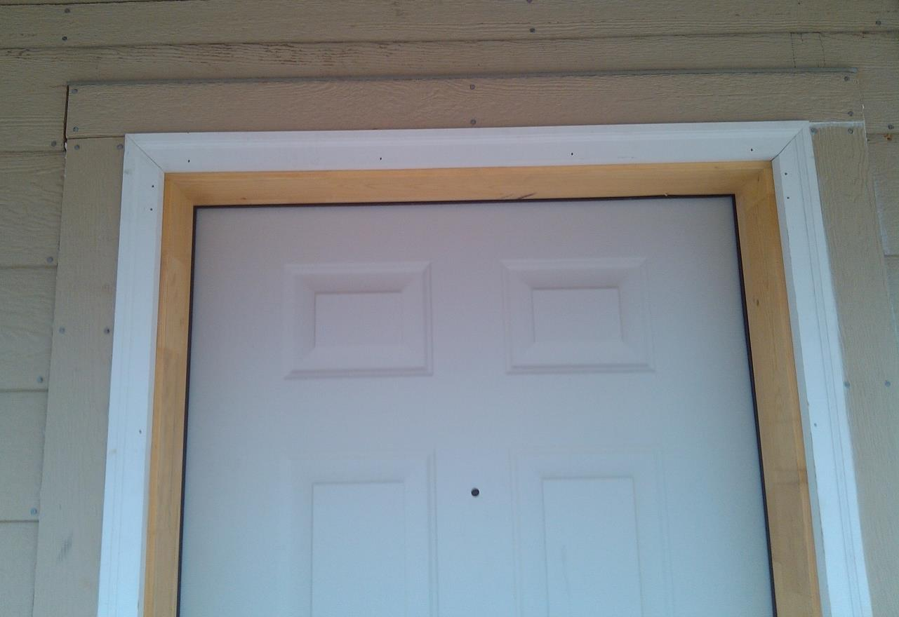 Windows and Doors 1x4 trim is used around all