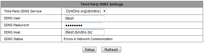 Figure 13 Notice : Using the third party domain name, if the http port is not 80, the port number should be adding to the domain name with colon. Example: http://btest.dyndns.biz:81.