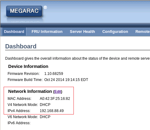 2.4.11 Check DHCP then Save. 2.4.12 Login MEGARAC again to make sure network mode is DHCP.