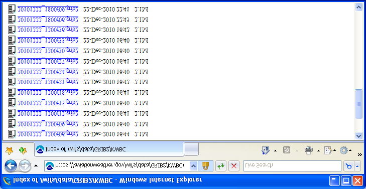 Figure 6-4 Snapshot of the GRIB2 folder The file naming convention for GRIB Edition 2 files is: YYYYMMDD_HHfFF.