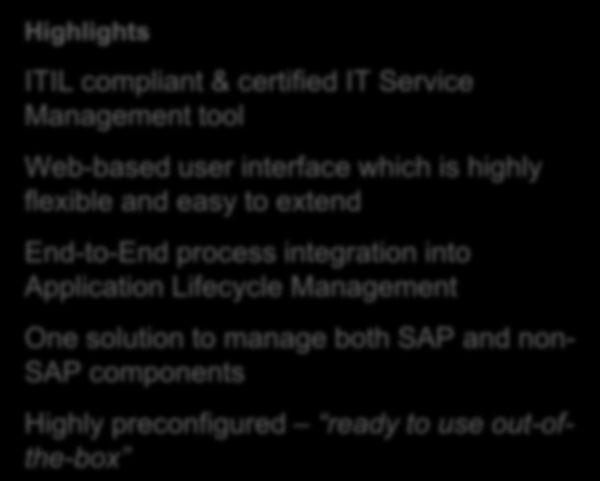 End-to-End process integration into Application Lifecycle One solution to manage both SAP and