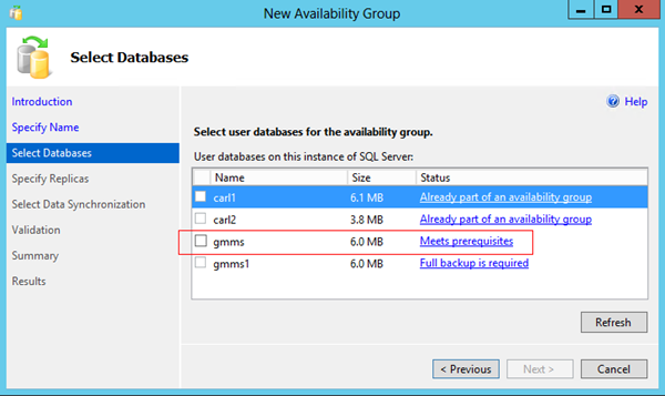 Appendix L Configuring AlwaysOn Support for SQL Server 2012 5. Specify an Availability group name (for display, not connection) and click Next. 6.