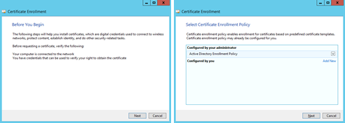 GEMS Prerequisites 3. Select the template that was created above in Creating a SAN Certificate Template.