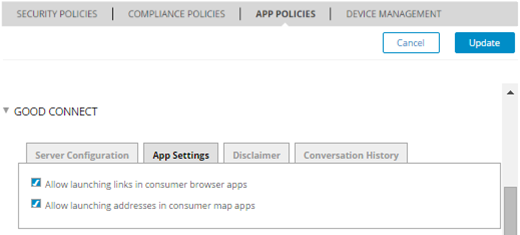 Configuring GEMS Services Controlling Browser and Map Behavior GEMS supports the option to control whether or not the local device browser application is invoked when tapping on a Web page URL within