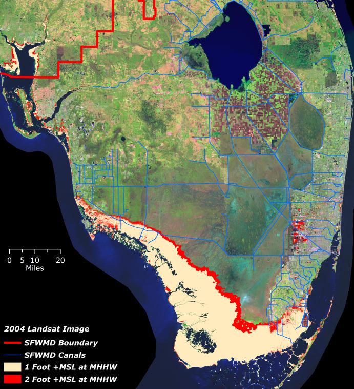 SLR Impacts NATURAL SYSTEM Southern Everglades Natural System Relocation and possible
