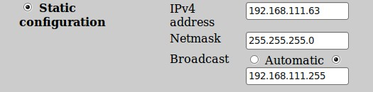 2.3.1 Network interfaces Through Network interfaces icon, change eth0 IP address and mask, we recommend static IP configuration for your proxy.