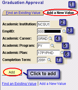 Navigation Main Menu > Student Information Systems > Records and Enrollment > Graduation > Graduation Approval Step 1 1.