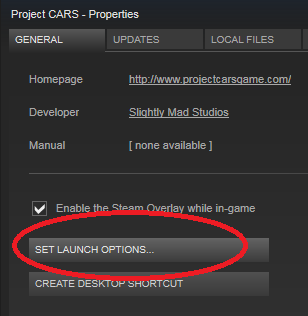 And then enter the command line options in the box that appears. You can t use the built in Steam s server browser to access Project CARS dedicated servers.