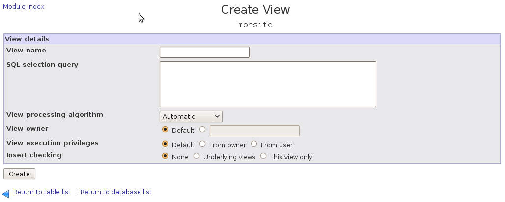 Create a MySQL view You can create a MySQL view, these are virtual tables that consist out of other tables according to certain criteria.