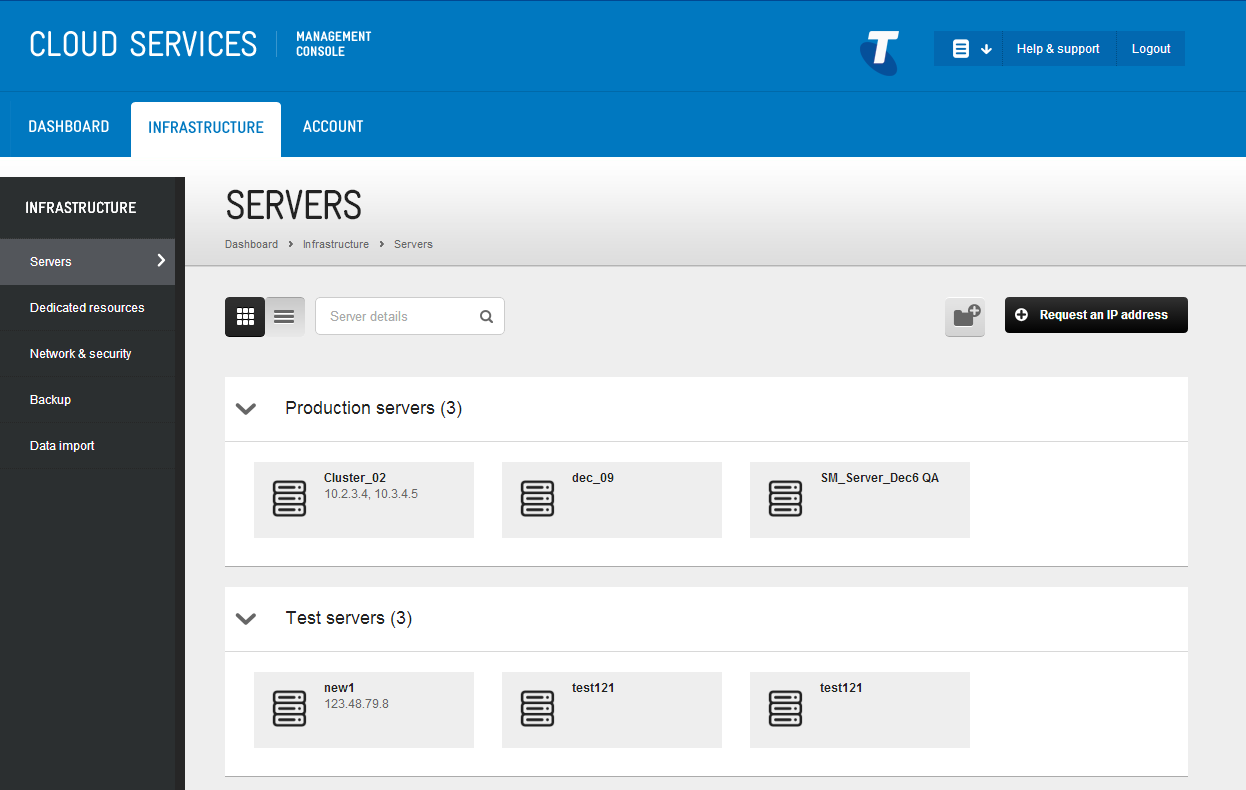 CHAPTER 6 VIEW SERVERS VCENTER SERVER This is the primary platform to view the details of all the virtual servers you ve created with this service.