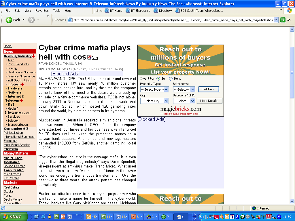 Cyber Crime is the new-age mafia, it is
