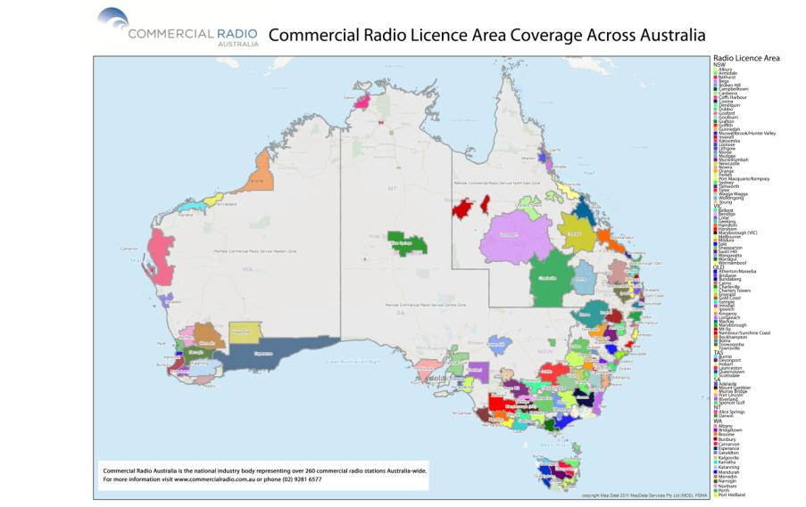 5.3 Coverage of Digital Radio Compared to Mobile Currently mobile coverage is extensive in Australia and claimed to be of the order of 95% of the population though the physical coverage is less than