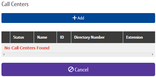 How do I set up a new Call Centre? 1. Login to the BT Cloud Voice portal 2. Select Sites menu 3. Select Features from the menu on the left hand side 4. Select Call Centres 5.