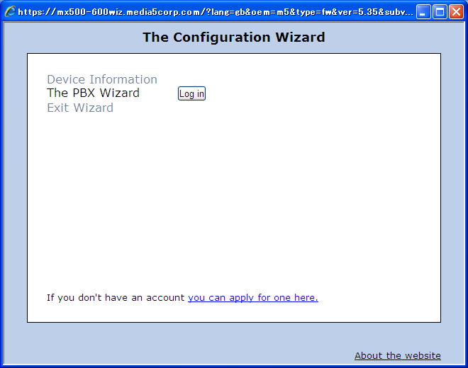 5.1-3 Click on [Configuration Wizard] *Note) Available